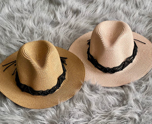 Casual Tie Panama Hat
