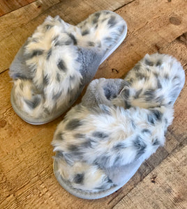 Grey Animal Slippers