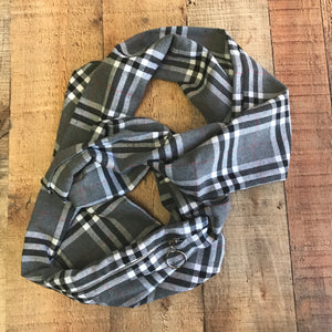 Pocket Infinity Scarf-Grey Burberry