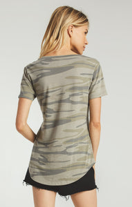 Camo Pocket Tee-Camo Light Sage