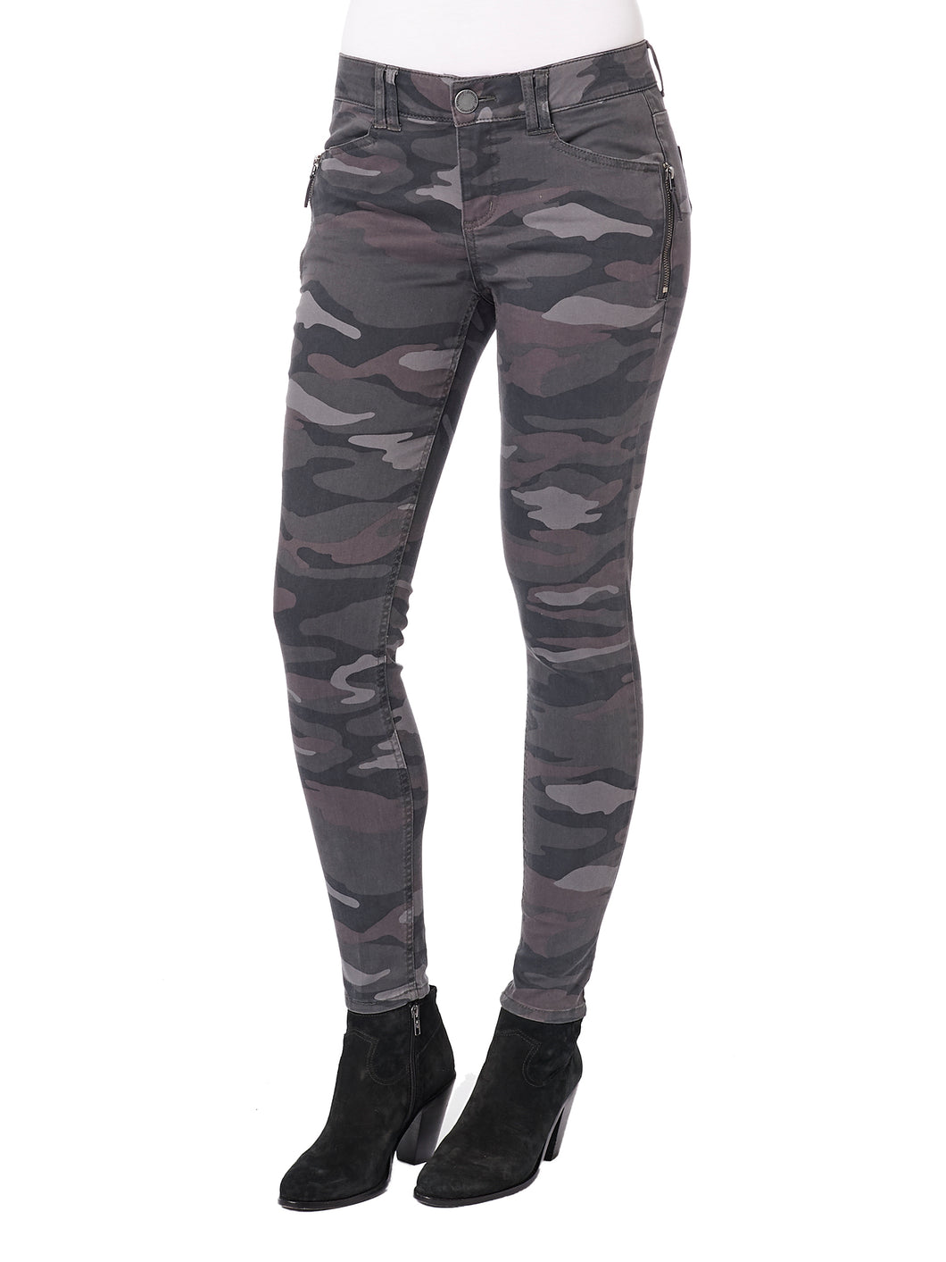 Democracy Camo Jegging-Grey