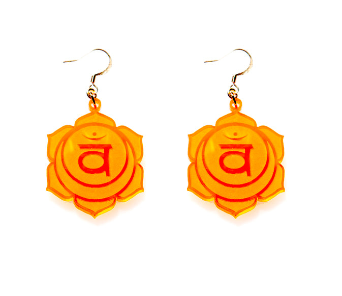 2nd Chakra Reflections Earrings - Svadhisthana - Sacral Chakra