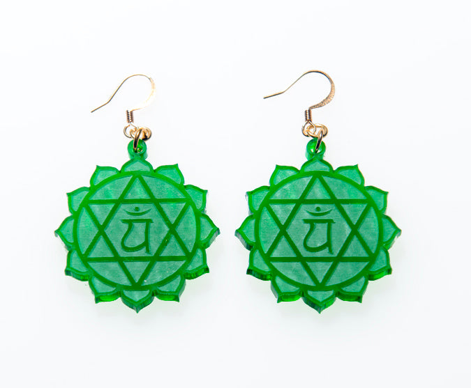 4th Chakra Reflections Earrings - Anahata - Heart Chakra
