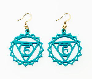 5th Chakra Earrings - Vissudha - Throat Chakra