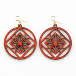 Yua Earrings - African Padauk and Gold