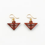 Miyu Mini Earrings - African Padauk and Gold