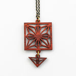 Harumi Necklace - African Padauk and Gold