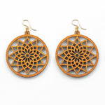 Piuli Earrings - Cherry Hardwood Mandala