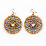 Laulin Earrings - Cherry Hardwood Mandala