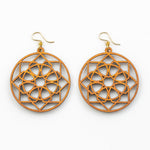 Iris Earrings - Cherry Hardwood Mandala
