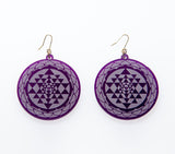 Sri Yantra Reflections Earrings