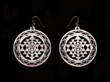 Sri Yantra Silhouette Earrings