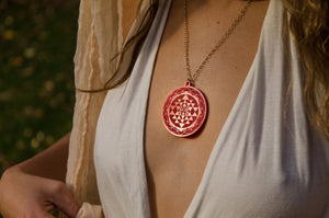 Sri Yantra Reflections Pendant
