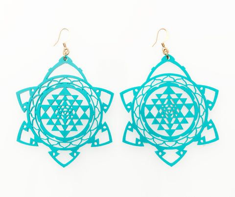 Sri Yantra Burst Earrings