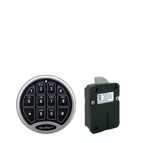 SecuRam Basic Chrome Keypad and Swingbolt Lock Kit