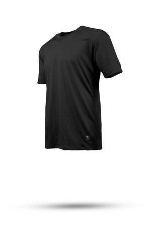 HALFDAN Merino wool riding tee - BLACK