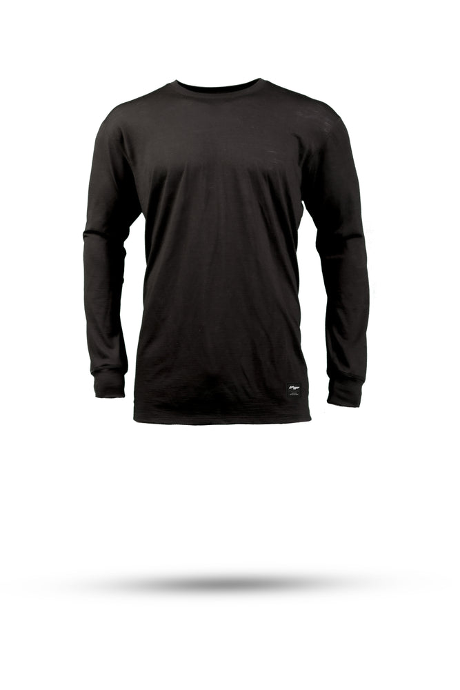 DAN Merino wool riding tee - Black