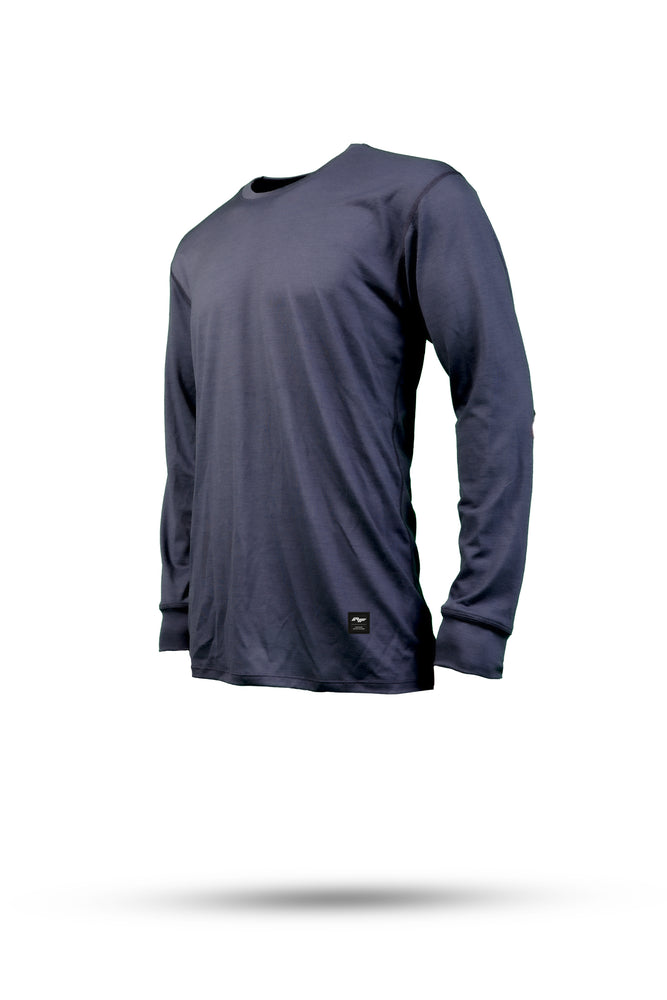 DAN Merino wool riding LS tee - Navy
