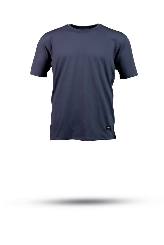 HALFDAN Merino wool riding tee - Midnight Navy
