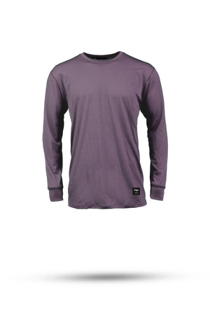 DAN Merino wool riding LS tee - Flint