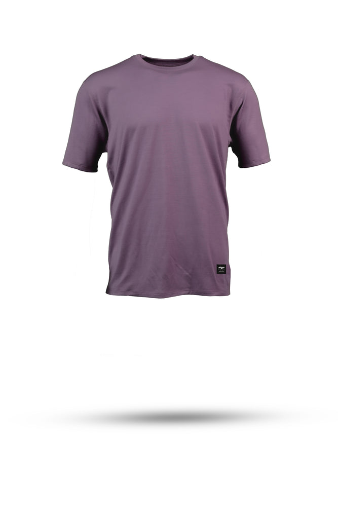 HALFDAN - Merino wool riding tee - Flint