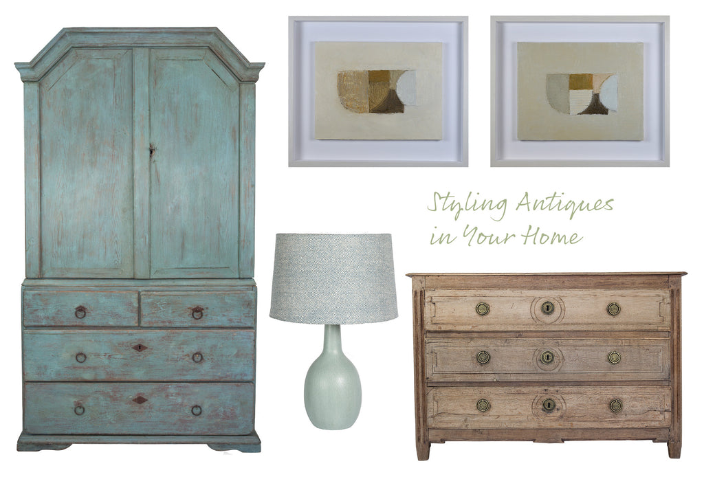 Styling Antiques, Contemporary Art & Modern Accessories in your Home