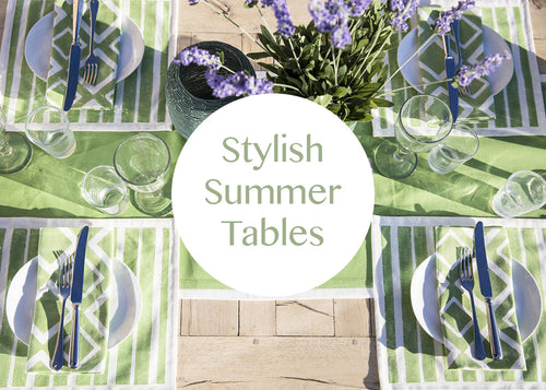 Stylish Summer Tables