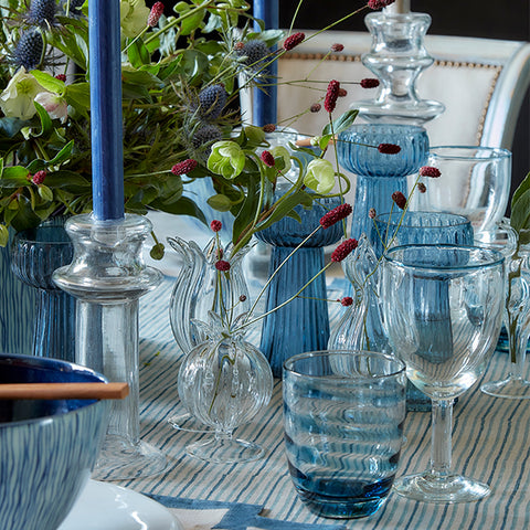 Birdie Fortescue | Decorative Blue Table Lay using our new Chowa Collection