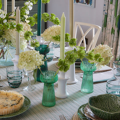 Birdie Fortescue | Laid Green Table using our Chowa Collection