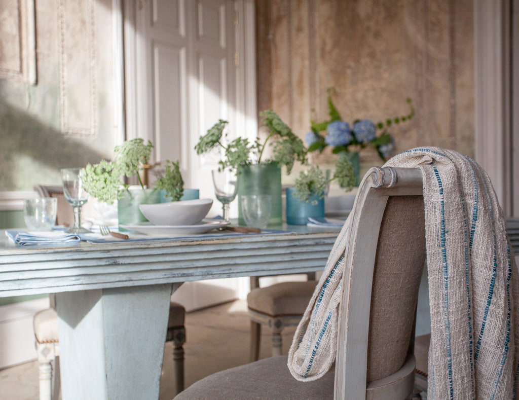 Birdie Fortescue Story | Mulaayam Table Linen Soft Denim