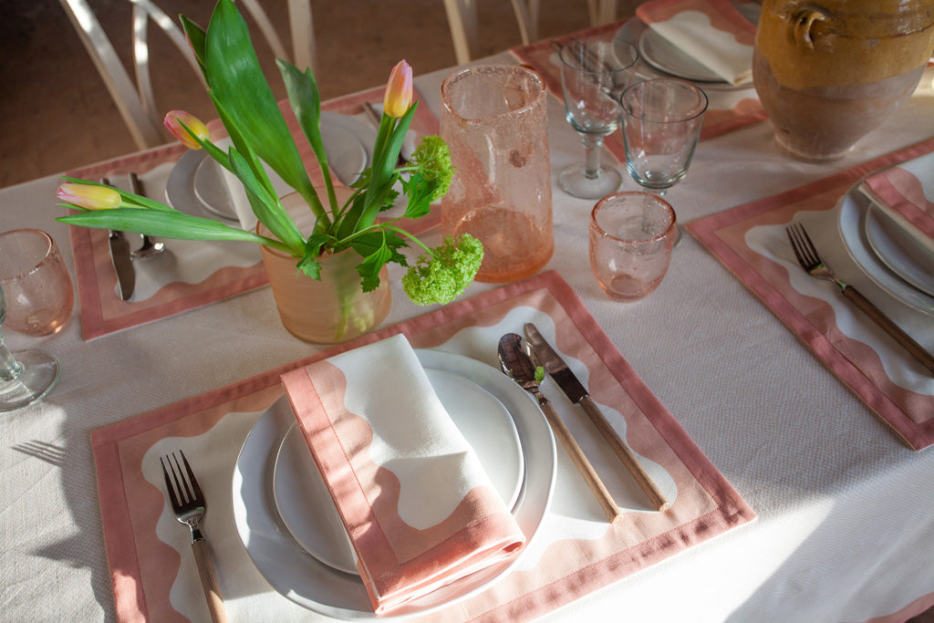 Birdie Fortescue Story | Mulaayam Table Linen Blush