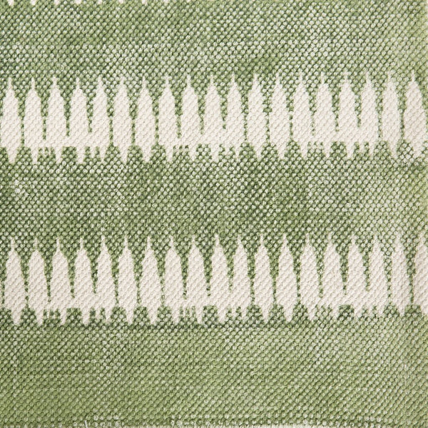 Printed Cotton Rug - Green