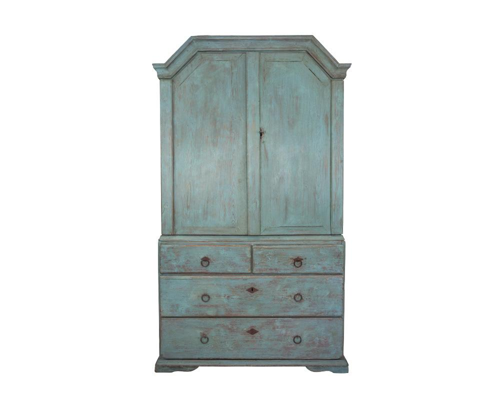 A painted 19th Century Swedish cabinet