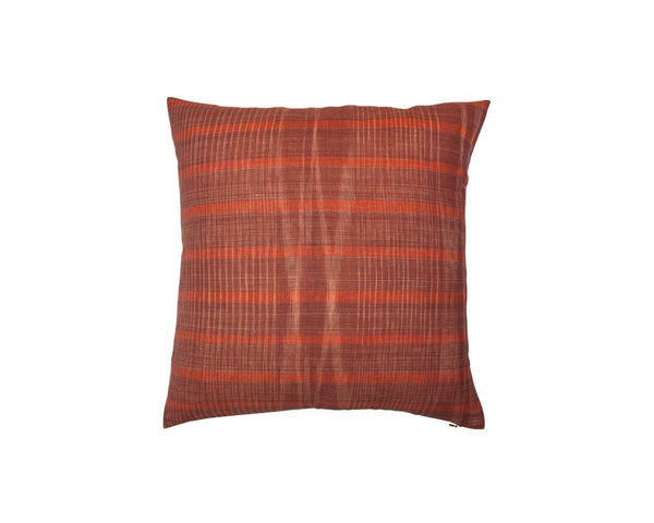 Limited Edition Khadi Cushion - Terracotta Weave