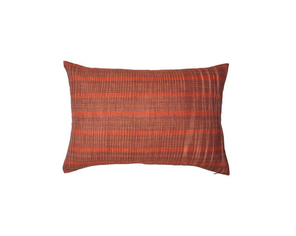 Limited Edition Khadi Cushion - Terracotta Weave Rectangle