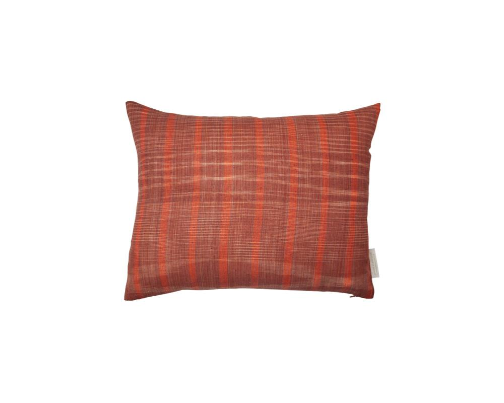 Limited Edition Khadi Cushion - Terracotta Weave Small Rectangle