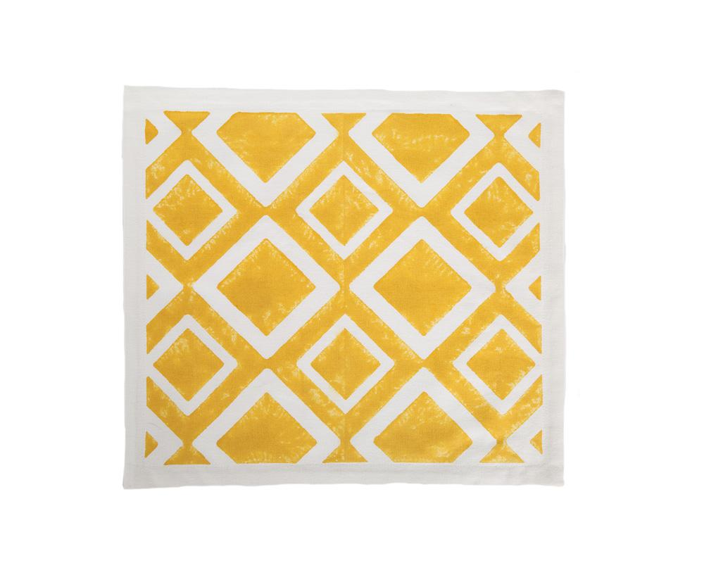 Aakaar Rhombus Placemat - Yellow