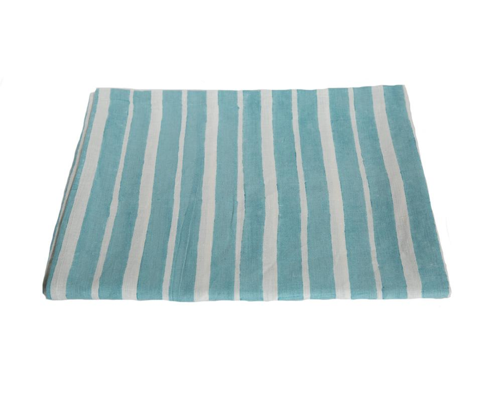 Aakaar Stripe Tablecloth - Blue