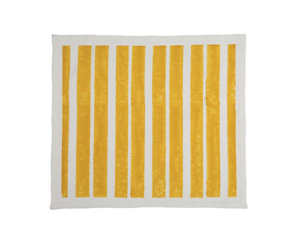 Aakaar Stripe Placemat - Yellow