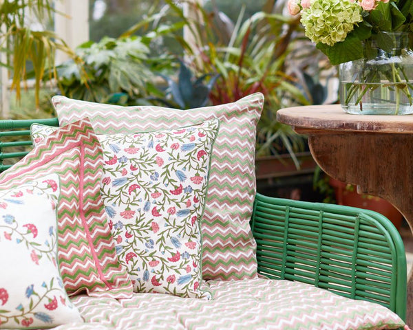 Arabesque Floral Square Cushion