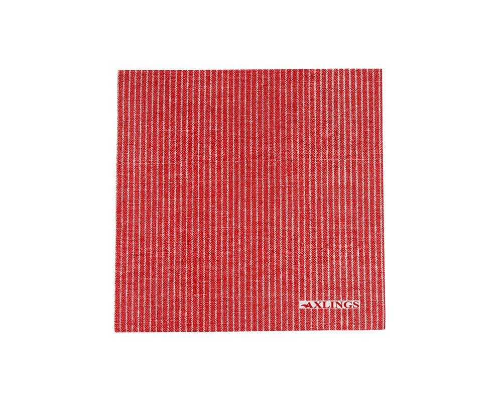 Linen-Look Paper Napkins - Red