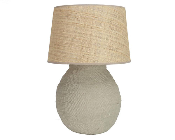 Large Basket Weave Lamp - Taupe