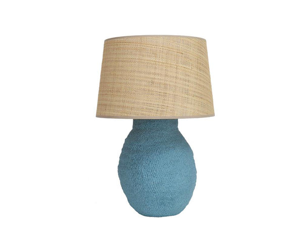 Medium Basket Weave Lamp - Marine