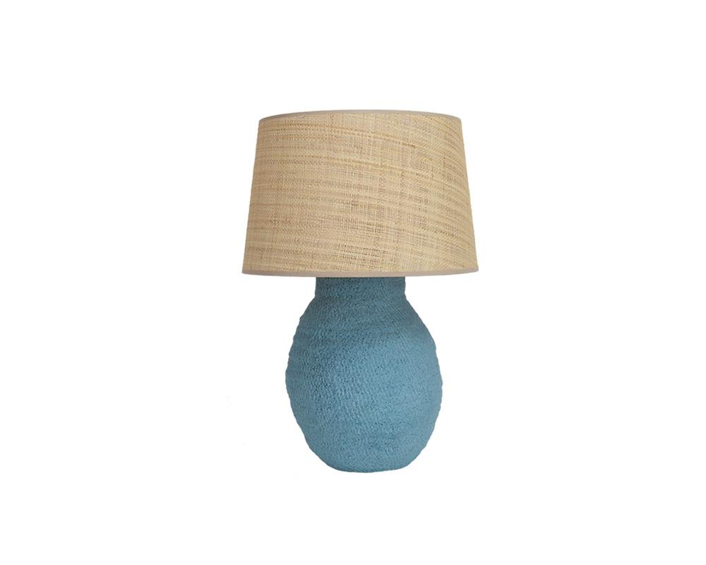 Small Basket Weave Lamp - Marine