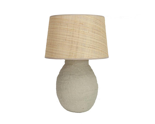 Medium Basket Weave Lamp - Taupe