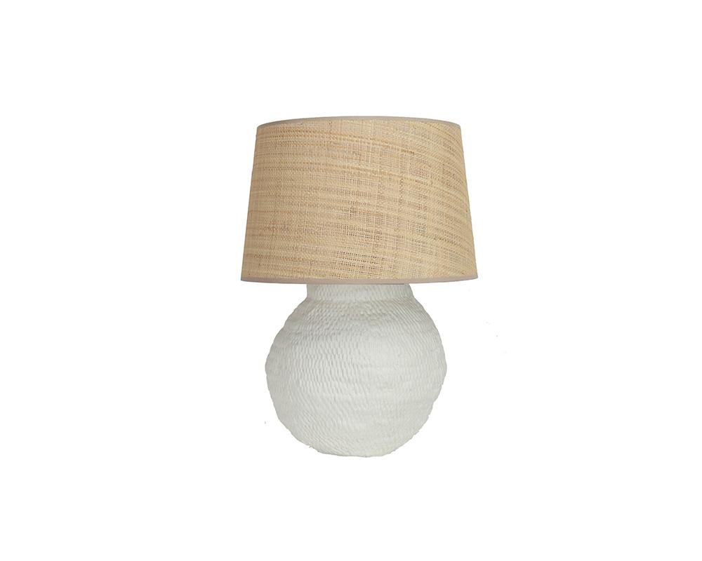 Small Basket Weave Lamp - Off White