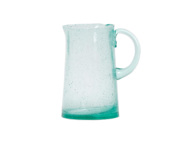 Bubble Glass Jug - Blue