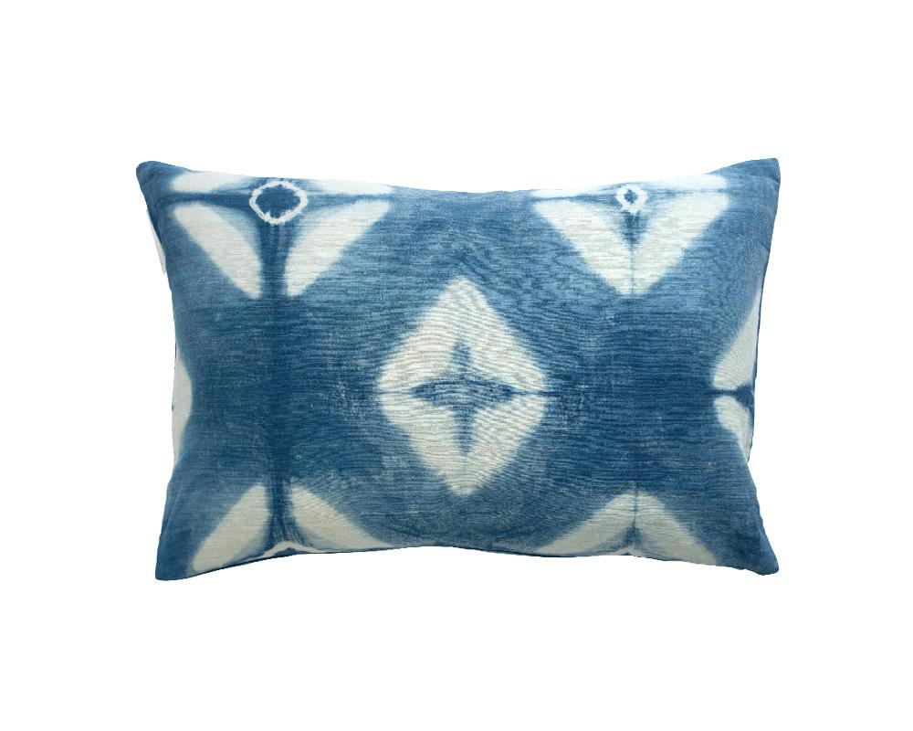 Limited Edition Triangle Itajime Shibori Cushion - Midnight