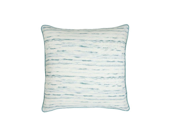 Mishran Marble Square Cushion - Cerulean