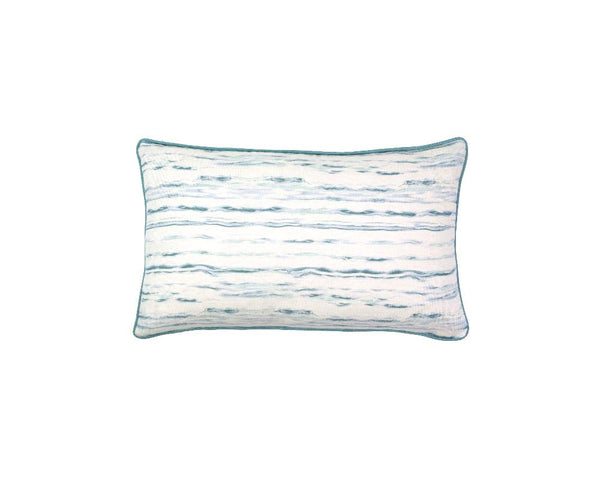 Mishran Marble Rectangle Cushion - Cerulean